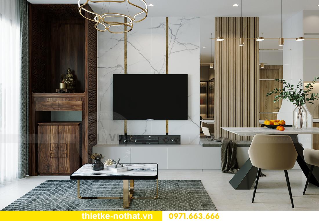 thiết kế nội thất chung cư Vinhomes Smart City tòa S201 căn 2903 4