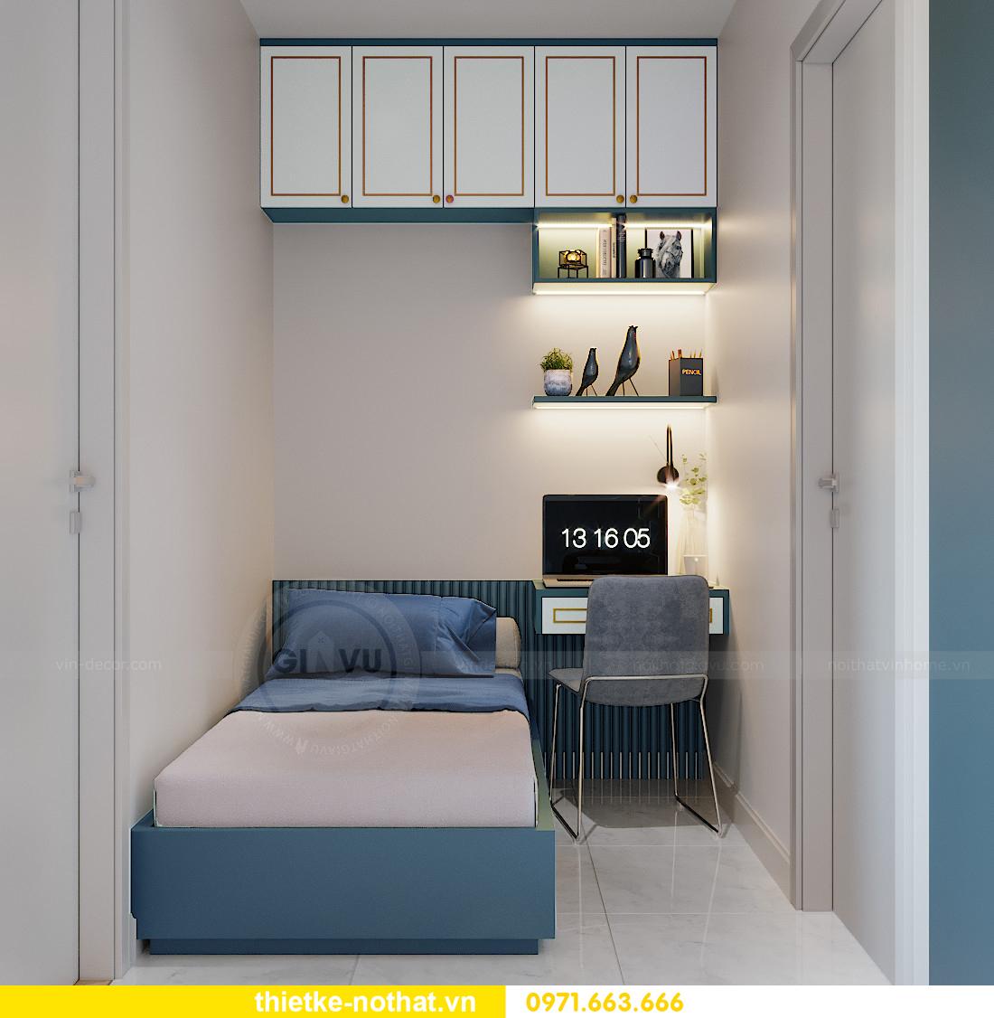 mẫu thiết kế nội thất căn hộ Smart City tòa S201 căn 18 5