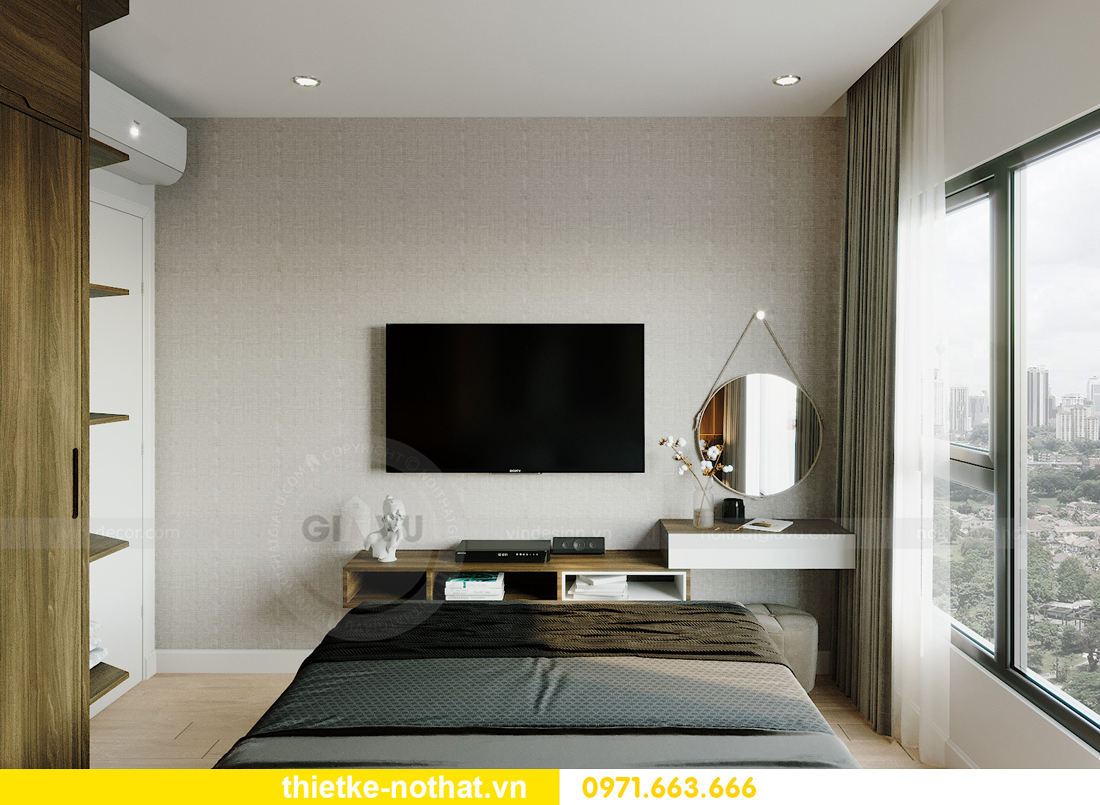 mẫu thiết kế nội thất căn hộ Smart City tòa S201 căn 18 6