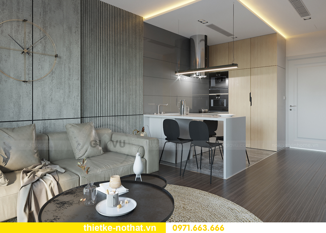thiết kế nội thất chung cư Smart City tòa S101 căn 11 1