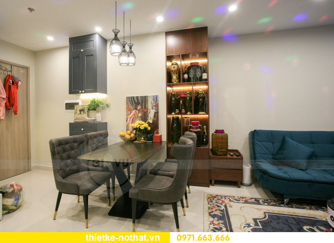 thi công nội thất căn hộ Vinhomes Smart City nhà anh Hân 5