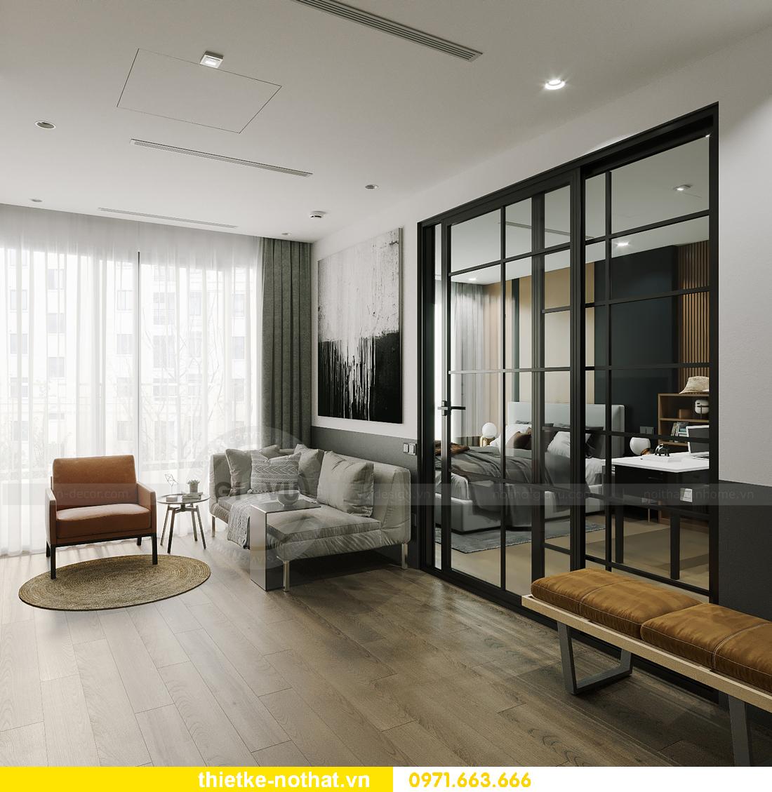 thiết kế nội thất căn hộ chung cư Smart City tòa S102 căn 09 5