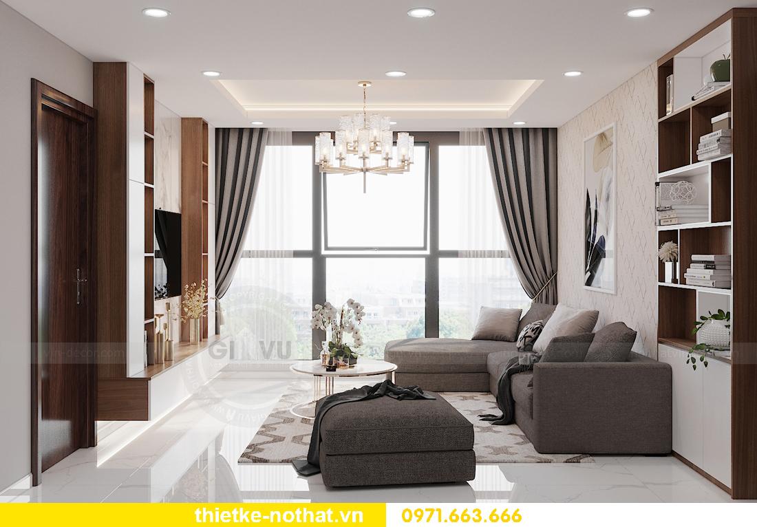 thiết kế nội thất chung cư Smart City tòa S302 căn hộ 2 ngủ 3