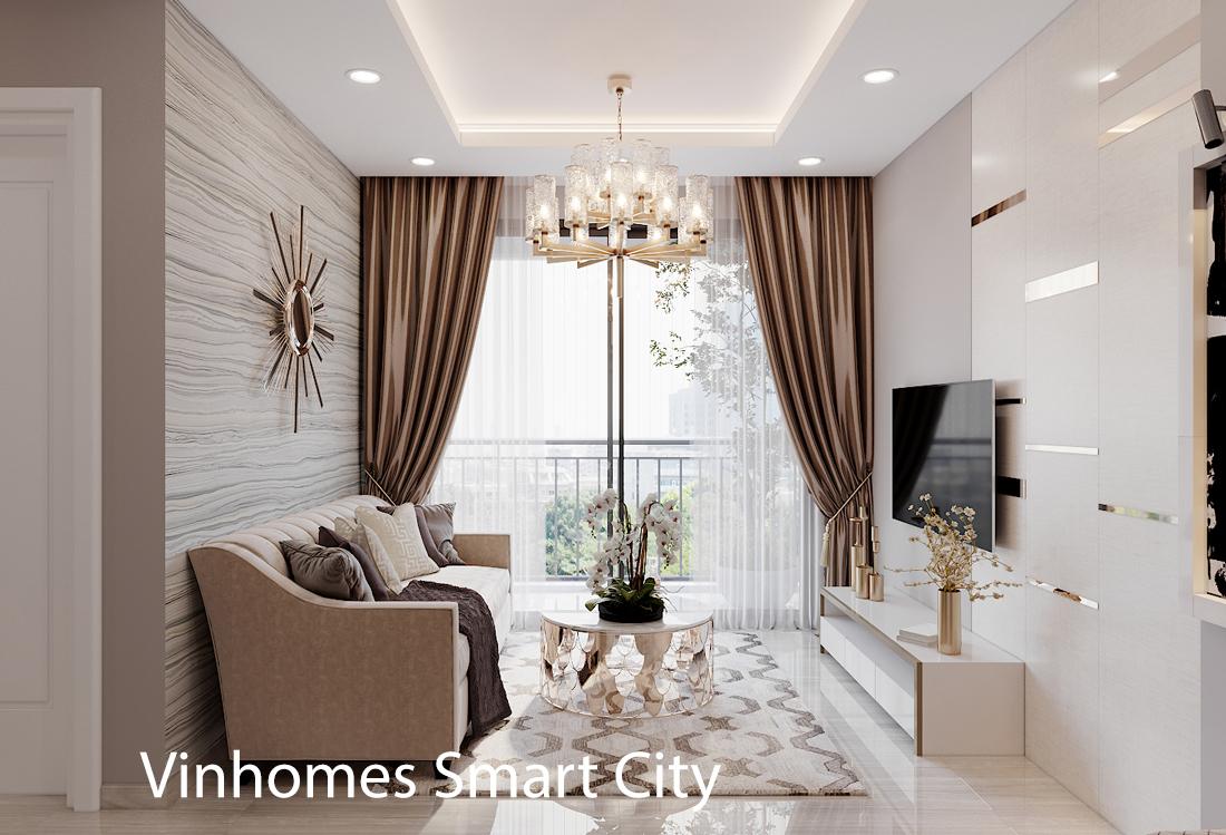 Thiết Kế Nội Thất Chung Cư Smart City Tòa S302 Căn Hộ 2 Ngủ